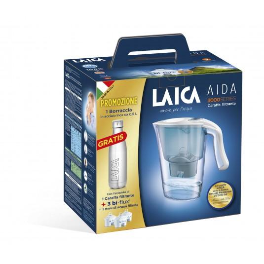 Laica Комплект Кана Aida+3 бр. Bi-Flux + Inox бутилка цена