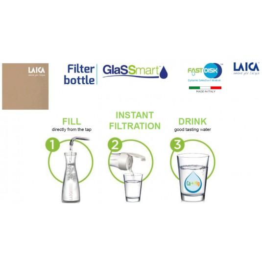 Laica Филтрираща гарафа стъклена Smart Glass 1.1 л. цена